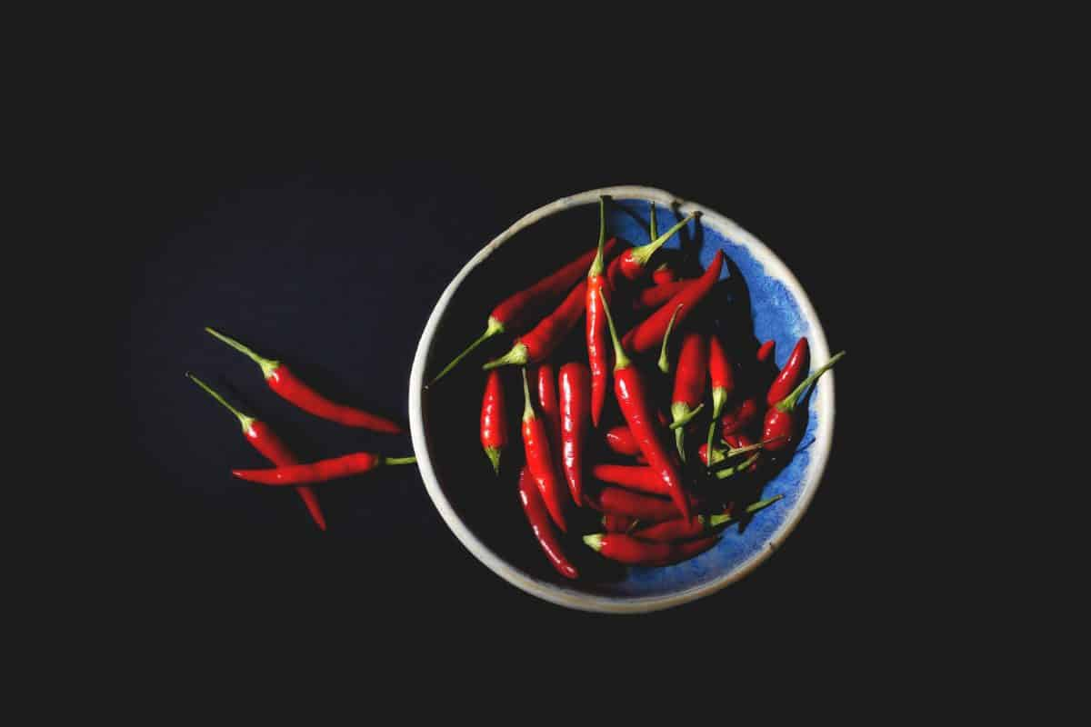 a bowl of chilies